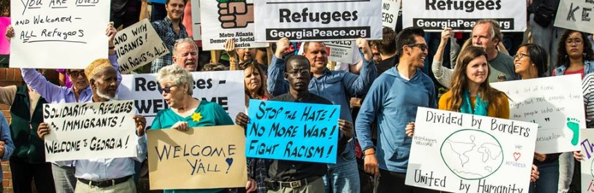 refugee rally