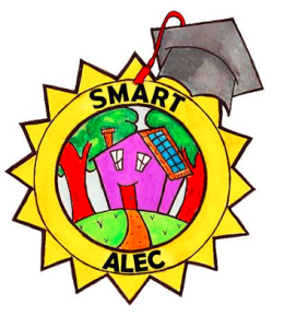 smart alec logo white background