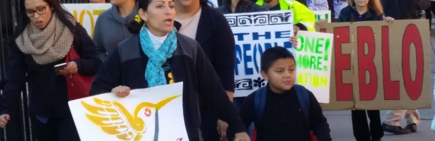immigrants at rally