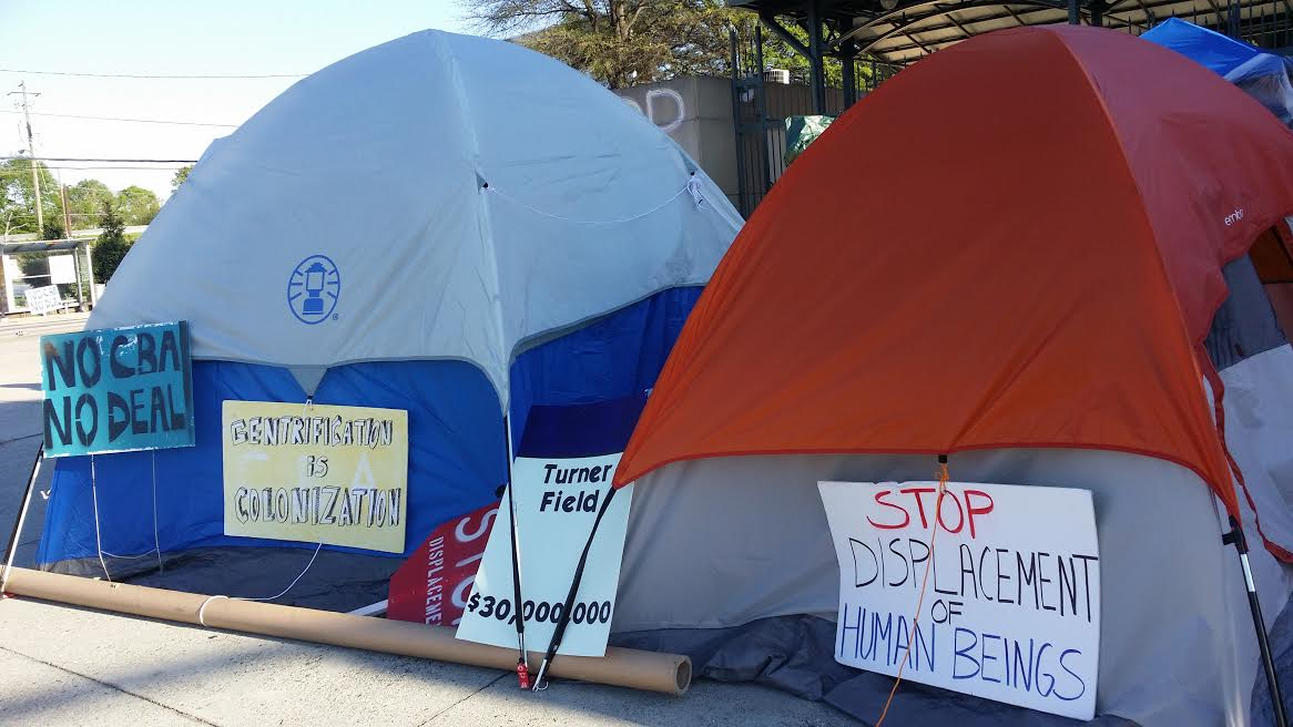 With additional reporting by Matthew Charles Cardinale & Tent City at Turner Field Enters Day Nine CBA Demanded | Atlanta ...