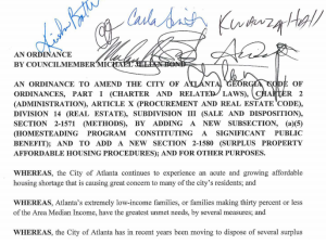surplus property ordinance w sigs